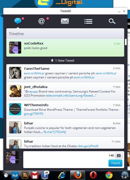 Pokki- tweeki, twitter client